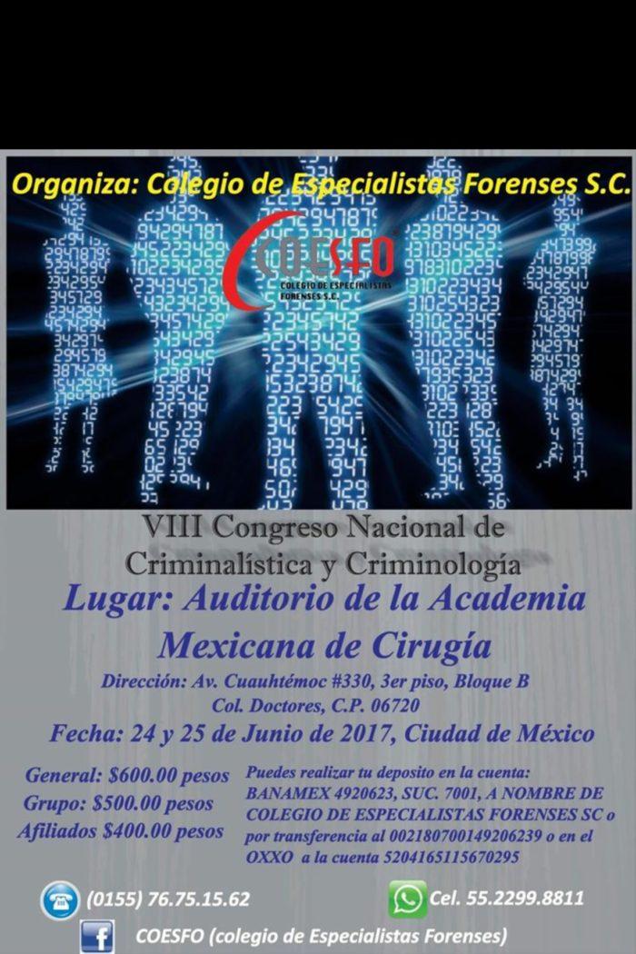 Viii Criminalistics Criminology National Conference Mexico 2017 True Forensic Science